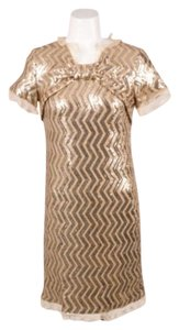 Moschino Cheap And Chic Gold Dress