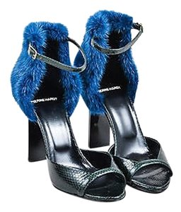 Pierre Hardy Dark Blue Green Sandals