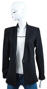 Helmut Lang Helmut Lang Black Wool Tuxedo Lapel Long Sleeve Blazer Jacket