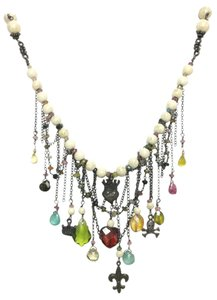 Kinley Sterling silver Tourmaline and Sandstone Kinley Charm necklace