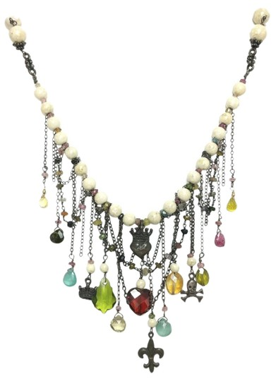 Preload https://img-static.tradesy.com/item/12279595/multicolor-sterling-silver-tourmaline-and-sandstone-charm-necklace-0-3-540-540.jpg