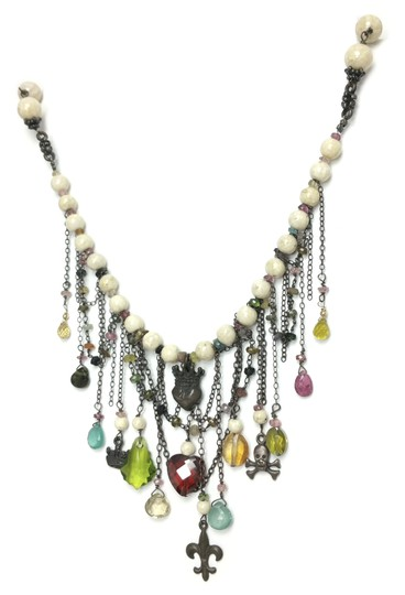 Kinley Sterling silver Tourmaline and Sandstone Kinley Charm necklace Image 2