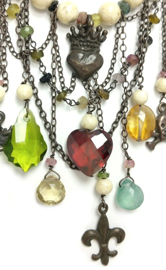 Kinley Sterling silver Tourmaline and Sandstone Kinley Charm necklace Image 4