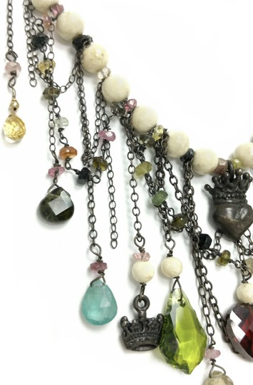 Kinley Sterling silver Tourmaline and Sandstone Kinley Charm necklace Image 5