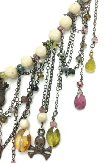 Kinley Sterling silver Tourmaline and Sandstone Kinley Charm necklace Image 6
