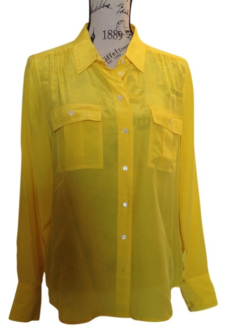 J.Crew Button Down Shirt Yellow