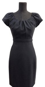 Elie Tahari Puff Sleeve Wool Dress