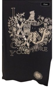 Juicy Couture T Shirt Black and silver