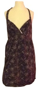 Charlotte Russe short dress Brown with floral design. on Tradesy