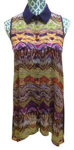 BCBGMAXAZRIA Bcbg Max Azria Shirt Top Multi Color