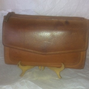 Fossil FOSSIL Large Brown Leather Organizer Wallet