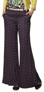 Anthropologie Cartonnier Emblem Printed Like New Wide Leg Pants Navy, White, Red