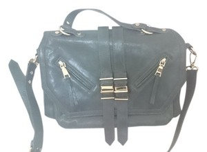 Treesje Leather Forest Green Messenger Bag