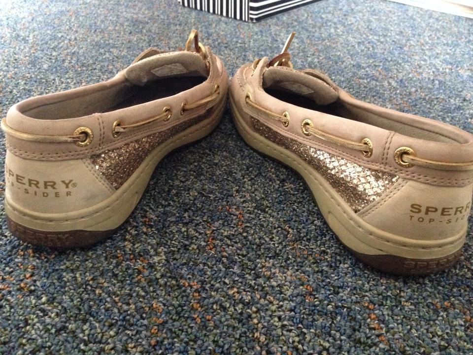 Sperry Tan Gold Sparkle Angelfish Flats Size Us 6 5 Regular M B 46 Off Retail