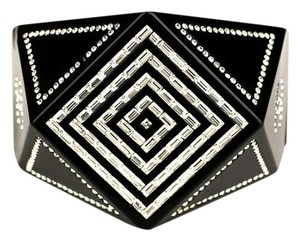 Chanel Chanel Geometric Strass Swarovski Crystal Bangle Cuff Bracelet