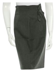 Robert Rodriguez Wool Pencil Skirt Grey