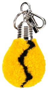 Fendi Yellow Sheepskin Lightbulb Key Chain Bag Charm