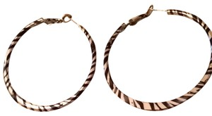Wet Seal Zebra Print Hoop Earrings
