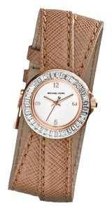 Michael Kors ON SALE-w/BONUS-Khaki Mini Madison Crystal Studded Leather Wrap