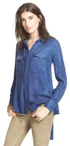 Free People Button Down Shirt Indigo