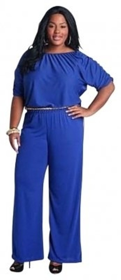 Ashley Stewart Blue Sexy Size 2x Romperjumpsuit Tradesy