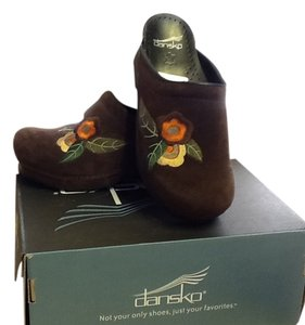Dansko Comfortable Colorful Velvety Soft Spring Chocolate Mules
