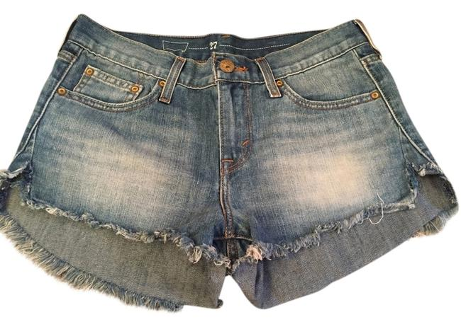 Item - Blue Distressed Relaxed Fit Jeans Size 27 (4, S)