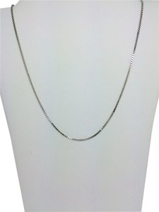 Other 14K White Gold Box Chain ~0.86mm 16 Inches