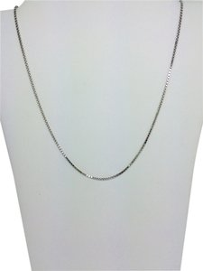 14K White Gold Box Chain ~0.80mm 18 Inches