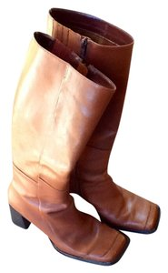 Structure Leather Women's Rust Color Boots