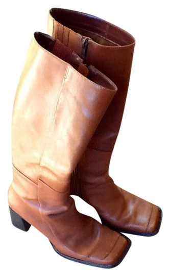 Structure Leather Women's Tall Leather Rust Color Boots