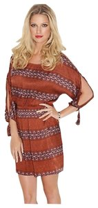Guess short dress Russet Brown on Tradesy
