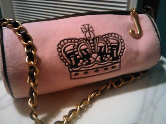 Juicy Couture Classic Velour Roll Purse Shoulder Bag