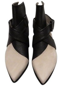MCQ by Alexander McQueen Open Back Chic Sophisticated Made In Italy Stone/Black Boots