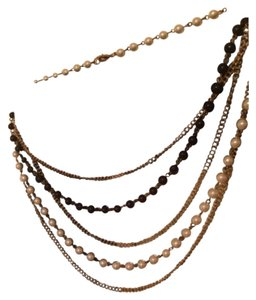 Costume- Macy's Pearl Navy white cascade necklace