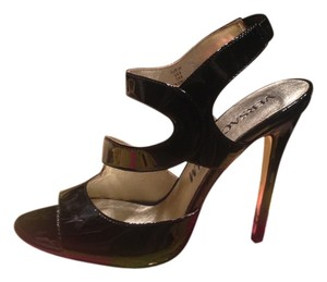Versace for H&M Patent Leather Stiletto Strappy Heel Evening Evening Limited Edition Black Sandals