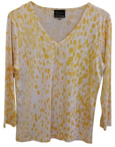 Lynn Ritchie T Shirt Yellow/ white