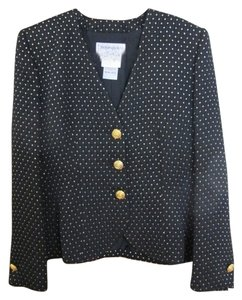 Saint Laurent Blazer Black and Gold Jacket