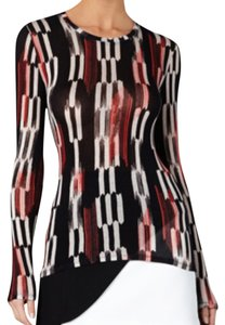 BCBGMAXAZRIA T Shirt Black red multi