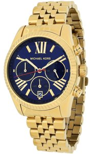 Michael Kors Navy Blue Dial Gold Stainless Steel Designer Casual watch