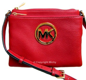 Michael Kors Fulton Leather Cross Body Bag