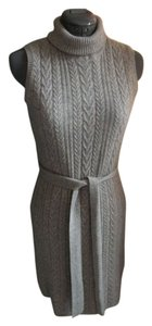 Tricotez short dress Gray Cashmere 100 Cashmere Designer Sleeveless 2-ply Cashmere Work on Tradesy