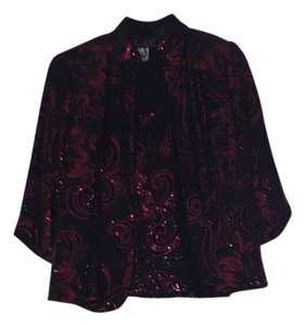 Alex Evenings Top Black and burgundy