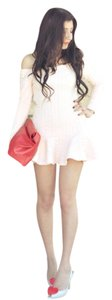 Chicwish short dress ivory/cream Off Shoulder Mini Adorable Ruffle Detail White on Tradesy