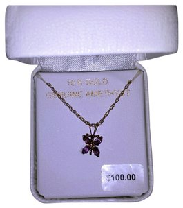 Vera Wang 10k Gold authentic amethyst necklace. February's birth stone