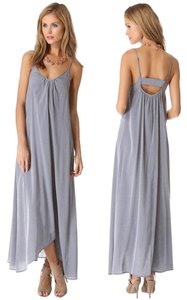 Haze/Light Blue Maxi Dress by Pink Stitch Resort High Low Maxi Flowy