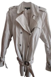 Jones New York Light Crinkled Lined Off White Jacket