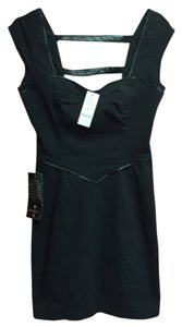 bebe short dress Black Faux Leather on Tradesy