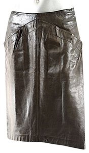 Claude Montana Skirt Dark Brown Lamb Leather