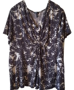Daisy Fuentes Top Purple floral print